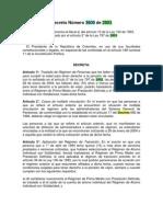 Decreto Número 3800 de 2003