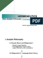 Hermeneutics Tgl 3 April 2010