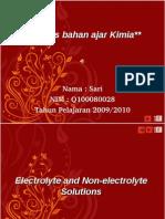 Bahan Ajar Sari Larutan Elektrolit Dan Non Elektrolit