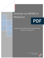Seminar on MEMS in Medecine