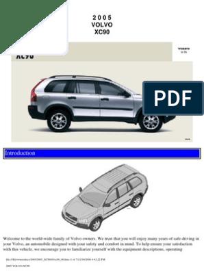 VOLVO XC90 2005 User Manual | Airbag | Seat Belt