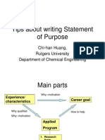 Tips About Writing SoP