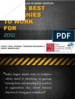 Indias Best Companies to Work for - 2012 Study - Information Brochure