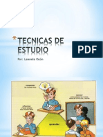 TECNICAS DE ESTUDIO