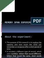 Memory Span Experiment