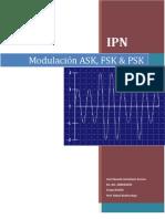 Modulación ASK, FSK, PSK