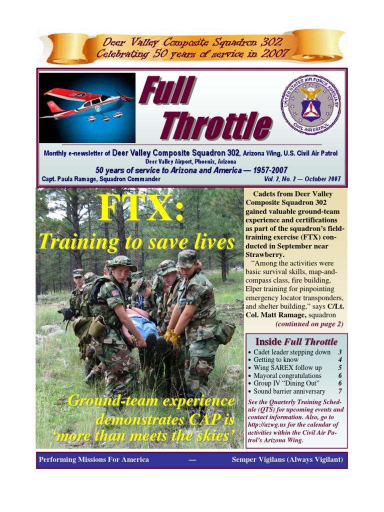 Deer Valley Squadron - Oct 2007 | Civil Air Patrol | Cadet