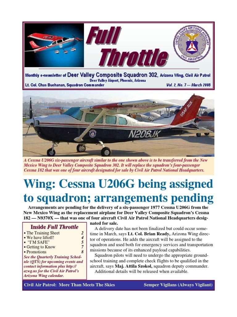 Deer Valley Squadron - Mar 2008 | Cadet Grades And Insignia
