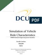 Simulation of Vehicle Ride Characteristics