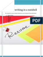 Resume Writing in a Nutshell
