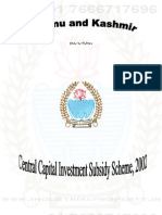 Jammu & Kashmir Central Capital Investment Subsidy Scheme 2002