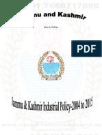 Jammu & Kashmir Industrial Policy 2004-2015