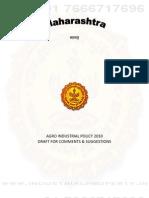 Maharashtra Agro Industrial Policy 2010
