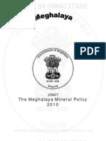 Meghalaya Mineral Policy 2010