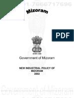 Mizoram Industrial Policy 2002