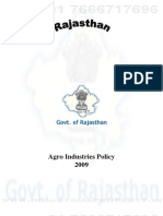 Rajasthan Agro Policy 2009