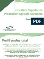 Tecnicatura Superior en Producción Agrícola-Ganadera