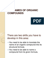 Chem the Names of Organic Compounds