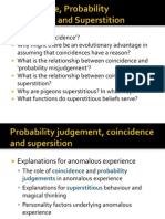 Coincidence and Probability Judgement 2012