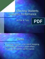 14. Factors Affecting Academic Performance - St Pius X