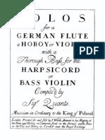 437268 Solos for a German Flute Johann Joachim Quantz Copia