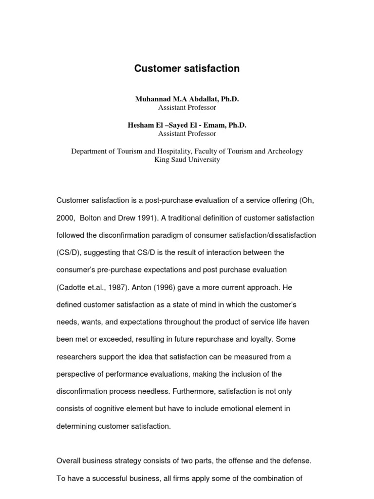 customer satisfaction | customer satisfaction | behavior