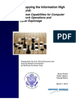 USCC Report Chinese Capabilities for Computer Network Operations and Cyber Espionage