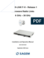 Sagem - Link F-H Microwave Installation and Operation Manual(2008)