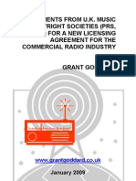 'Arguments From UK Music Copyright Societies (PRS, PPL) For A New Licensing Agreement For The Commercial Radio Industry' by Grant Goddard