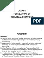 Org Behaviour-- Basics of Indiv Behaviour