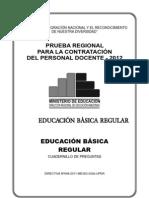Examen Regional Amazonas 2012
