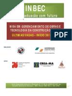 MBA EM GERENCIAMENTO DE OBRAS E TECNOLOGIA DA CONSTRUÇÃO - MA