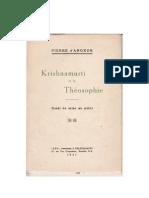 Krishnamurti et la Théosophie, par Pierre d'Angkor