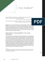 Case Analysis Appendix