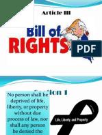 Article III. IV, V