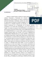 ESCRITO DE OPOSICIÓN AL ACTA DEL 26-10-2011