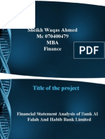 Financial Statement Analysis of Bank Al Falah and Habib Bank Limited