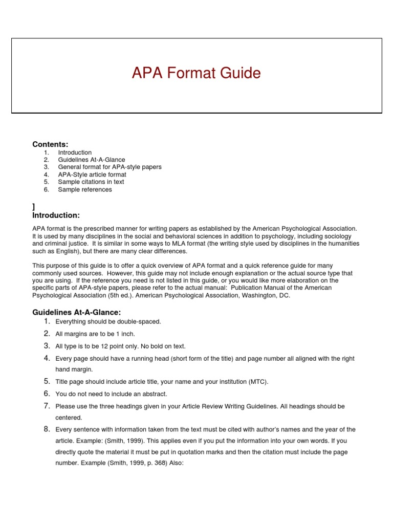 apa format guide How to write a bibliography using apa reference list format.