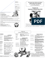 Programa de Cuaresma 2012