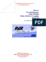 How to Use and Integrate AVR STUDIO With AVR GCC Complier