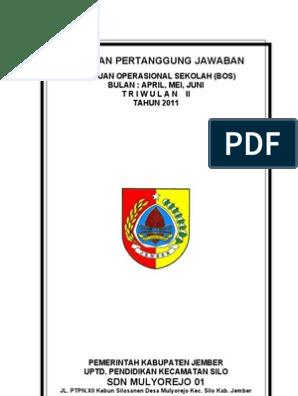 Cover Laporan Pertanggung Jawaban Bos