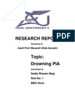 Pia Report by Sadia Sir Muzamil