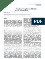 1995 Warren Determining the Fracture Toughness of Brittle Mtls by Hertz Indent