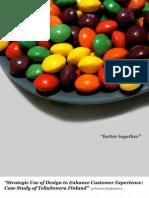 Strategic Use of Design to enhance customer experience, case study of sonera finland, 2007 master thesi