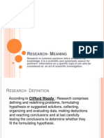 Research- Meaning (Session 1)