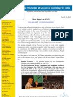SPSTI Progress Report- March, 2012