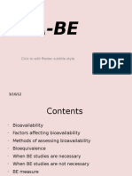 Bio availiility equivalence