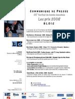 618 - BD Boum Communiqu de Presse Prix 2008