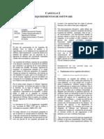 Capitulo 2 Requerimientos de Software