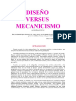 """DISEÑO VERSUS MECANICISMO"""